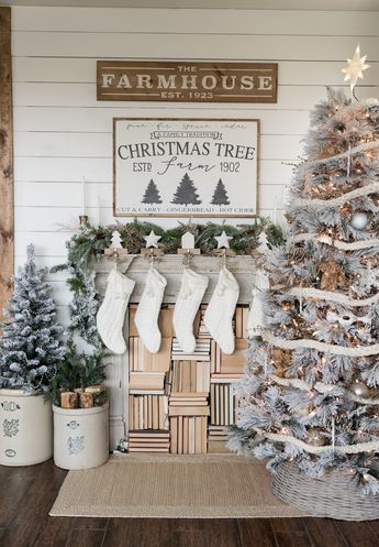 Christmas Decor Inspiration - Farmhouse Style