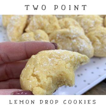 2 Point Lemon Drop Cookies - Pound Dropper