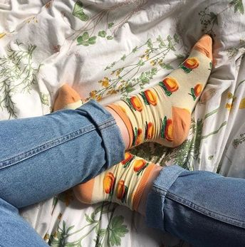 This would be a cute picture to take I you got some crazy cute socks from Forever 21 and than found a really cute white sheet #affiliatelink to bring the best to you