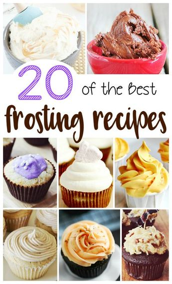 What is your favorite frosting? I've got recipes for 20 of the best frostings ever. From Salted Caramel to Cookie Dough Frosting, you are sure to find a favorite. You will may even want to try all 20 of these delicious frostings.