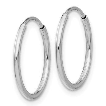 b32816bed 10K White Gold Endless Hoop Earrings (1IN Long) -- Nice of your presence