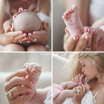 Baby and mom close-up photo ideas - Danijela