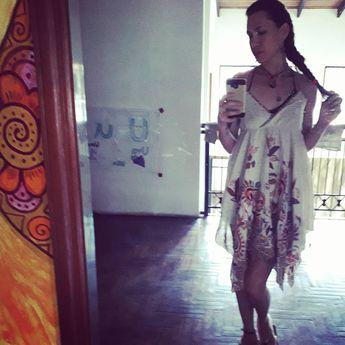 Hoy me siento mía, en mi vestido de diosa. Como una niña linda en una plácida tarde ❤ . . . #dress