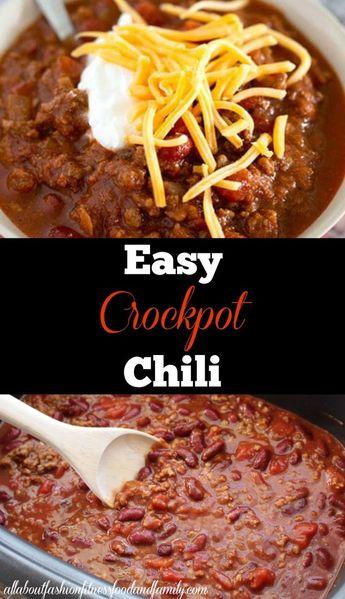 Easy Crockpot Chili
