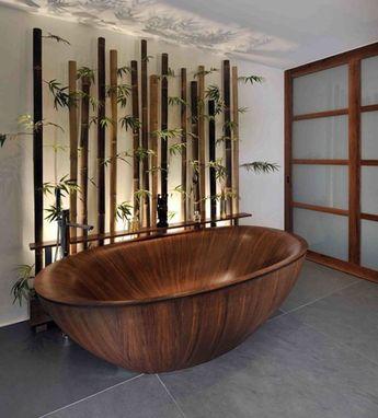 35 Lovely Bamboo Theme Bathroom Decor Ideas