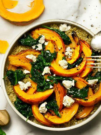 Recette : quinoa au potimarron et épinards frais