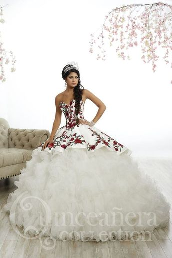 443223a2492 Charra Dress with Red Roses  10165