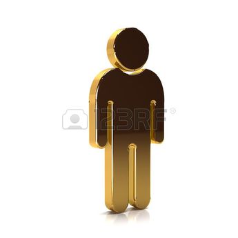 Golden Man of the Year. 3D Rendering Illustration