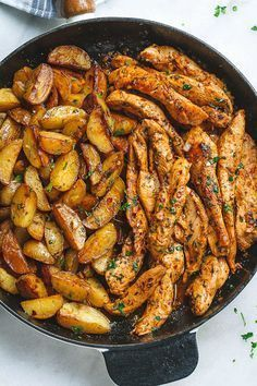 Garlic Butter Chicken and Potatoes Skillet