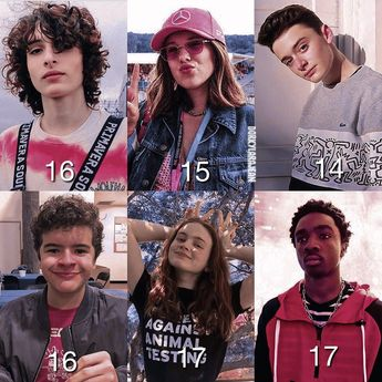 [ stranger things cast x age ] — ic @doveliever | fc 95 ✧ repost with credit ➯ follow @dorkylarajean [me] for more!