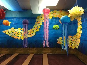 Lifeway Submerged  VBS fish wall