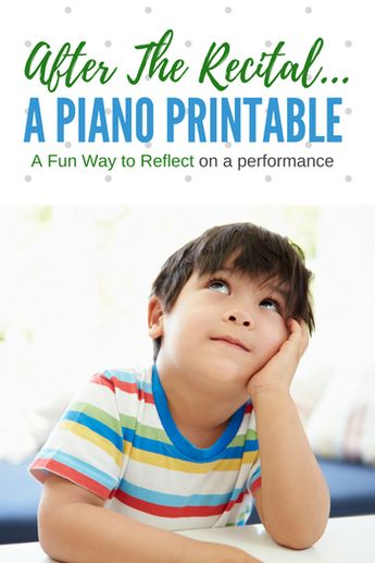 Reflect On Piano Recital Performances With This Fun 'Mad Lib' Printable