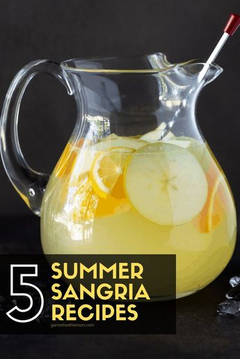 Batch summer cocktails don't get much tastier than sangria! Find a new favorite with our guide to How to Make 5 Easy Summer Sangria Recipes! #sangria #batchcocktails #drinks #cocktails