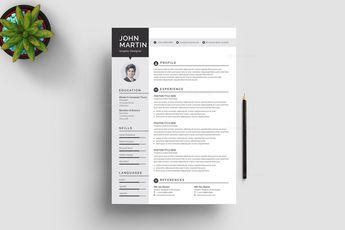 Minimalist CV Design Templates 002888 - Template Catalog
