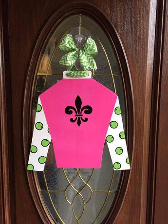Custom Kentucky Derby Jockey Silk Door Hanger Design You