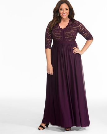 Jasmine Lace Evening Gown