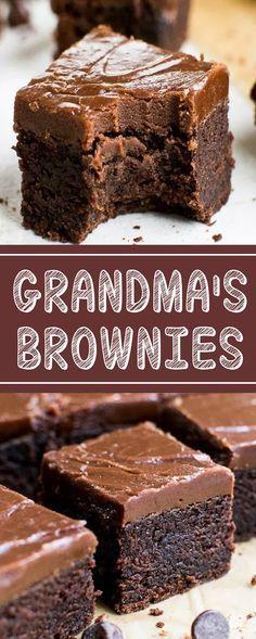 GRANDMA'S BROWNIES #brownies #cakes