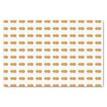 Tropical Pineapple Tissue Paper | Zazzle.com