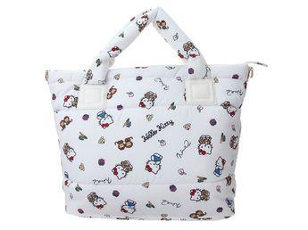 e32041381 Hello Kitty x Ninamew Nylon 2 Way Tote Shoulder Bag White JAPAN