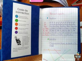 notebook of the day: correction code - But what does the mistress do