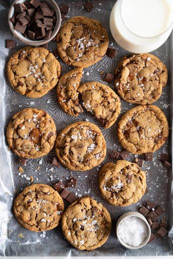 Brown Butter Salted Caramel Chocolate Chunk Cookies