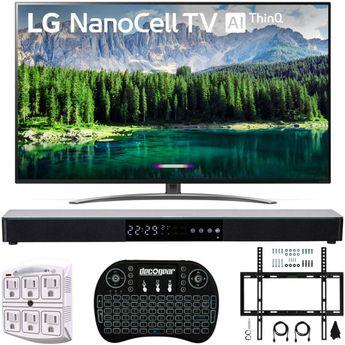 "LG 75SM8670 75"" 4K HDR Smart LED IPS TV w/ AI ThinQ 2019 Model + Soundbar Bundle | New | $1,696.99"