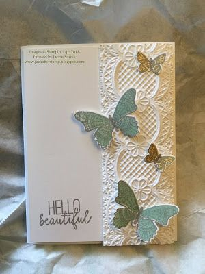 JackOtterStamp: Butterfly Gala with Lace Embossing Folder