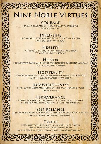Hans Gruen • The Nine Noble Virtues