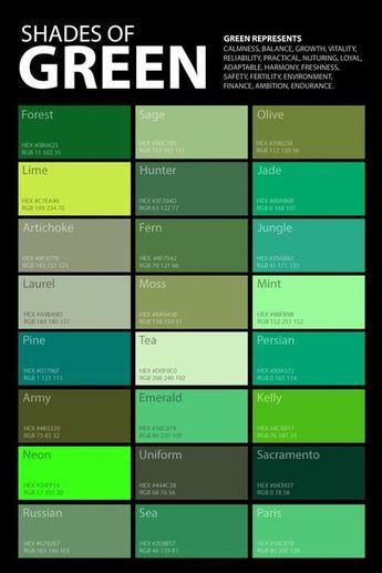 palette de couleurs de vert - #couleurs #de #Palette #vert