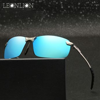 7ab6048f91 LeonLion 2018 Polarized Sunglasses Men Brand Designer Classic Metal Sun  Glasses Women Men Outdoor Travel