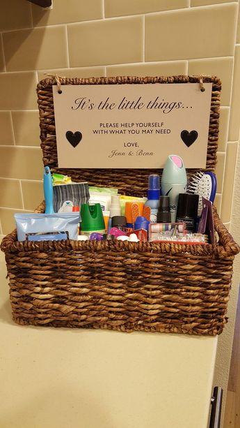 Gender specific bathroom amenity baskets for the guests – #amenity #baskets #Bat