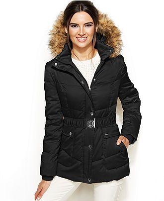 096864ecf DKNY Faux Fur, Down & Feather Coat, 1X $160