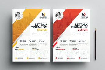 PSD Minimal Flyer Templates - Graphic Templates