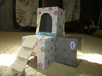 This is a mini popsicle stick house I made for my new winte