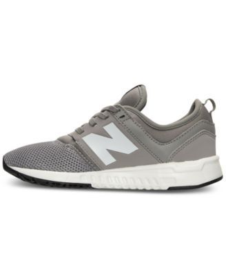 6f626a7c9a New Balance Boys  247 Casual Sneakers from Finish Line - GREY WHITE 6.5