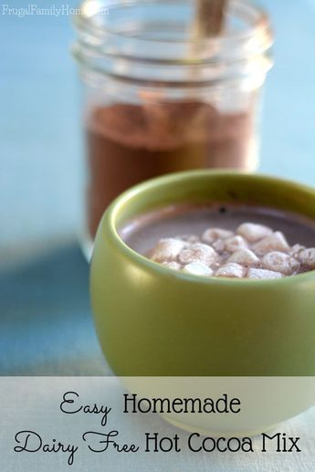 Make your own hot cocoa mix at home and save money. This recipe only takes 5 ingredients to make and has dairy free options too. Then store in the pantry for hot chocolate in minutes.