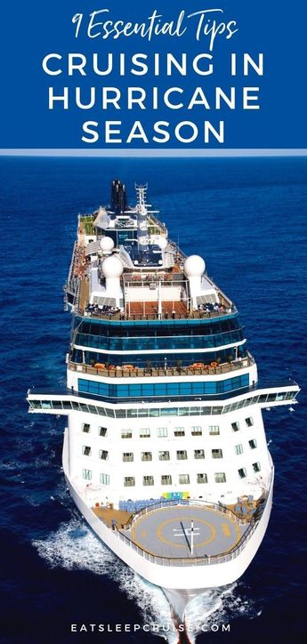 Survival Guide: Cruising During Hurricane Season | EatSleepCruise.com. What you need to know about cruising during hurricane season!  Planning a Caribbean cruise vacation in the fall can save you money but it's also hurricane season and plans are subject to change with the weather. Check out our post for the 9 things you need to know about cruising during hurricane season. #cruise #cruisetips #hurricane #hurricaneseason #eatsleepcruise