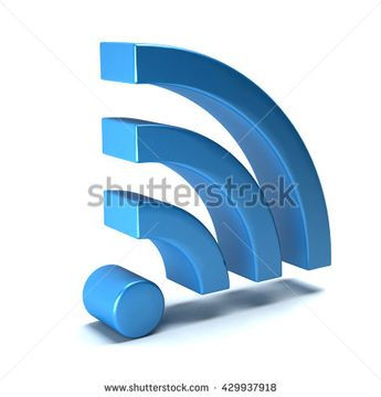 Wireless wifi icon. 3D rendering illustration