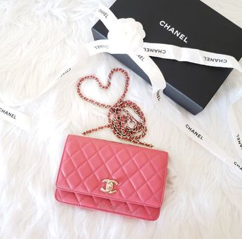 CHANEL Pink Trendy CC Lambskin Wallet On Chain with GHW 201 9346eb1f5a27b