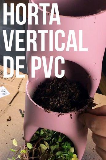 Aprenda como fazer uma HORTA VERTICAL com tubo de PVC, super fácil. Para ver mais tutoriais como esse acesse: youtube.com/paulobiacchi ou clique na foto.