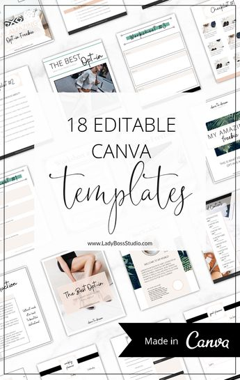 Fresh Opt-in Freebie Templates for Canva | Lady Boss Studio