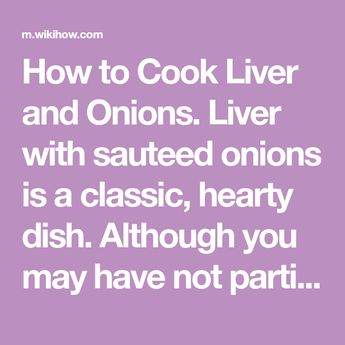 Cook Liver and Onions