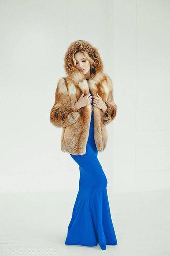 a4e950f29 Red fox Fur coat Fur jacket for women Long coat Fox coat Winter coat Woman  coat