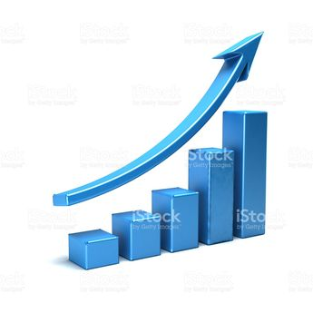 Business Growth Bar Graph Curve Illustration