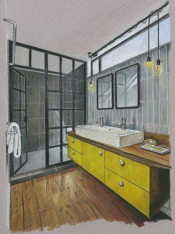 Salle de bain / croquis