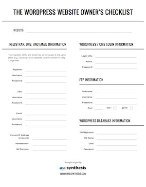 The WordPress Website Owner's Emergency Checklist - Copyblogger