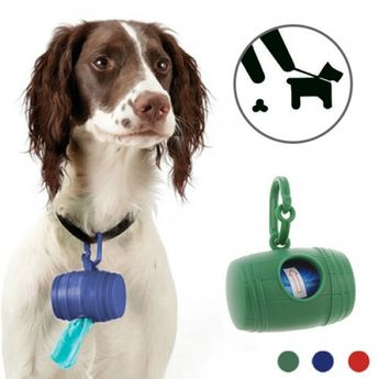 Dog Poop Bag Holder (with 15 Bags)