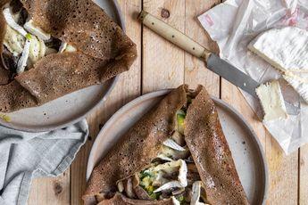Galettes de sarrasin aux pleurotes et camembert