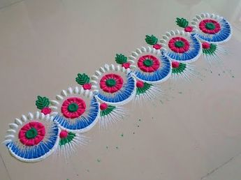 Very beautiful and unique rangoli design, rangoli design. - YouTube