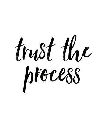trust the process printable DIGITAL download PORTRAIT